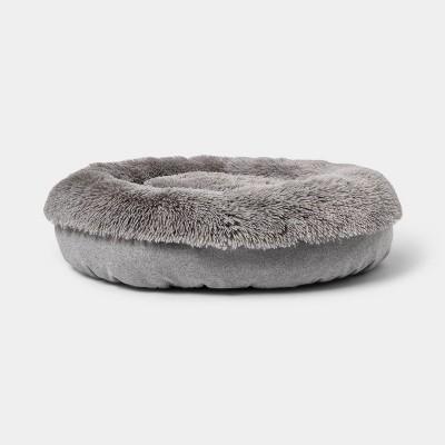 Super Plush Cuddler Round Dog Bed - Gray - Boots & Barkley™