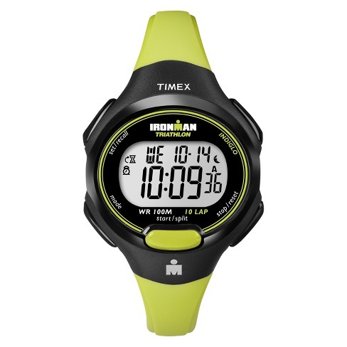 Women's Timex Ironman® Essential 10 Lap Digital Watch -  Lime T5K527JT - image 1 of 1