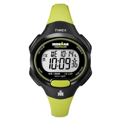 Women's Timex Ironman Essential 10 Lap Digital Watch -  Lime T5K527JT - image 1 of 1