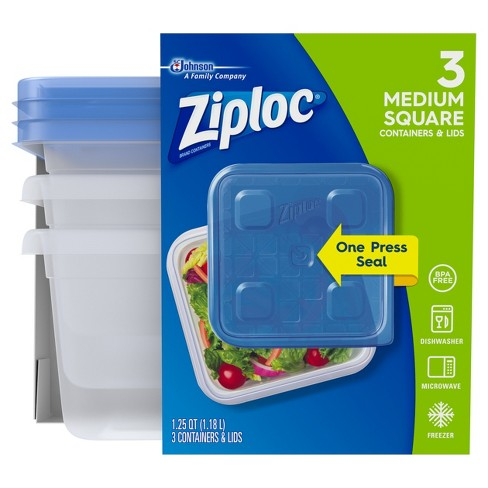 Ziploc Medium Square Containers - 3ct - image 1 of 4