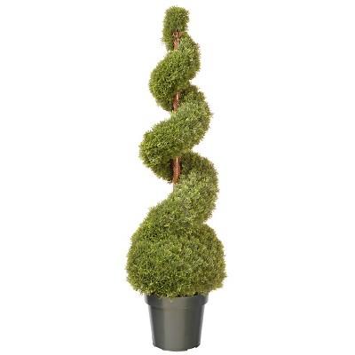 "Cedar Spiral with Ball in Pot (48"")"