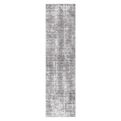 Gray Solid Loomed Runner 2'6 X8' - nuLOOM
