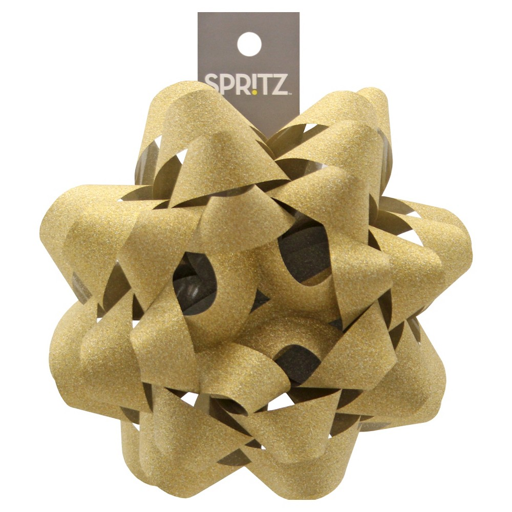 Image of Glitter Gift Bow Gold - Spritz
