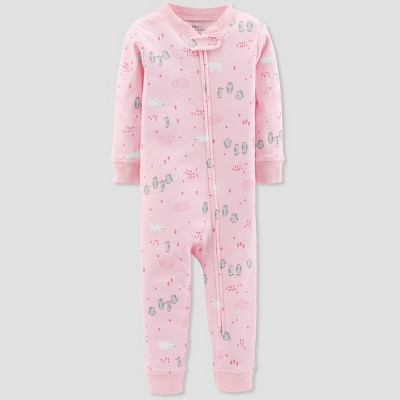 Baby Girls' 1pc Penguin - Little Planet by Carter's Pink 12M