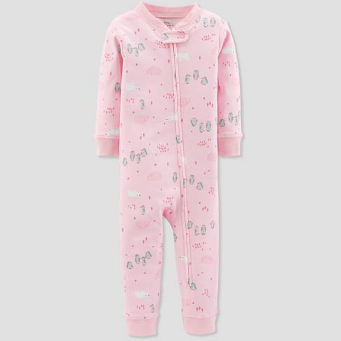 0f44988116 Baby Girls  1pc Penguin Organic Cotton Pajama - Little Planet By ...