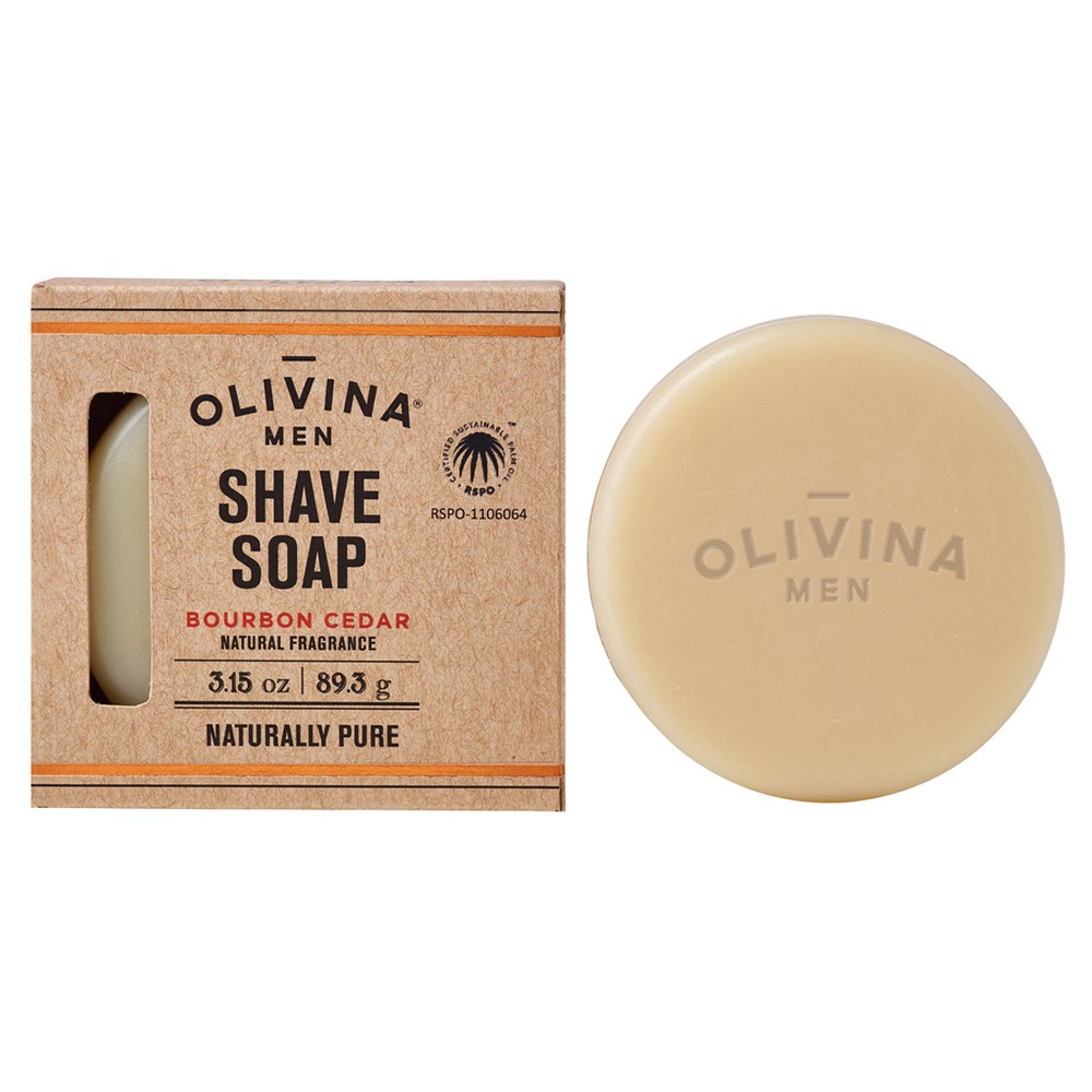 Image of Olivina Men Shaving Soap - 3.15oz