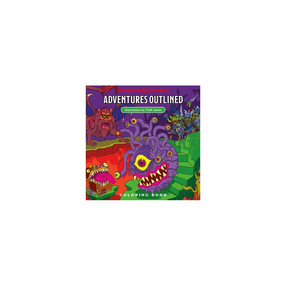 Dungeons & Dragons Adventures Outlined Coloring Book - (Paperback)