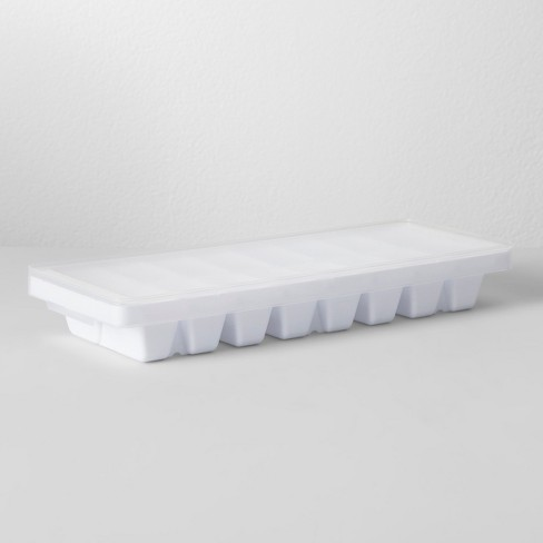 Ice Cube Tray With Lid White - Made By Design™ - image 1 of 3