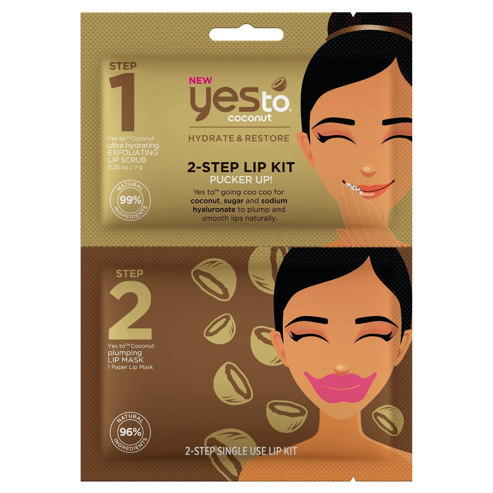 Image of Yes To Coconut 2-Step Single Use Lip Kit Pucker Up!