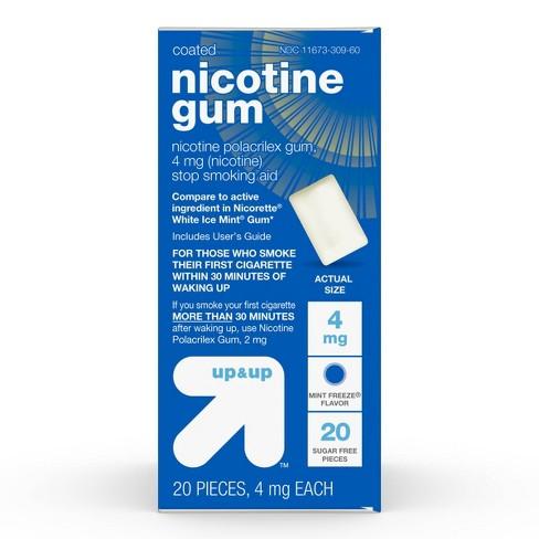 Nicotine 4mg Gum Stop Smoking Aid - Mint Freeze - Up&Up™ - image 1 of 4