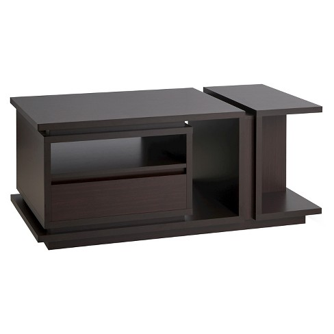 Carmina Modern Multi-storage Coffee Table Walnut - HOMES: Inside + Out - image 1 of 4