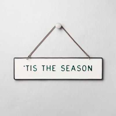 'Tis The Season' Wall Sign Green/Cream - Hearth & Hand™ with Magnolia