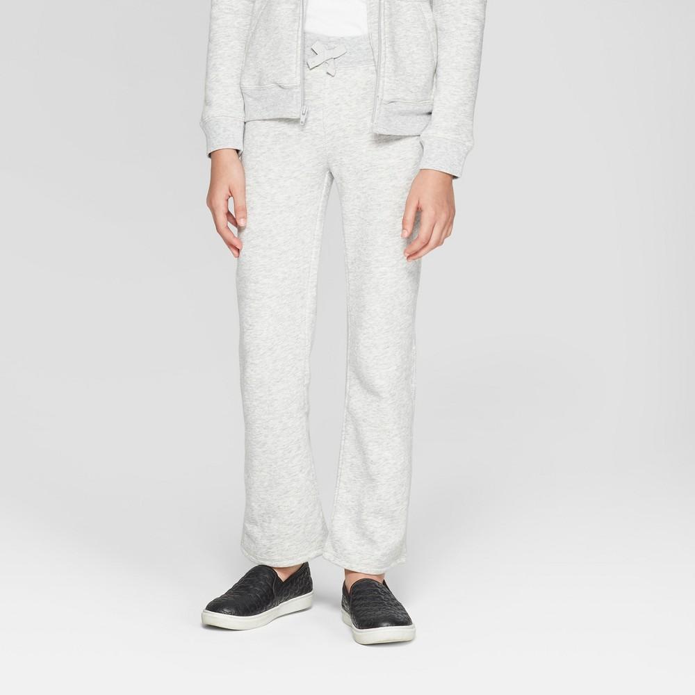 French Toast Girls' Fleece Uniform Lounge Pants - Gray L, Heather Gray