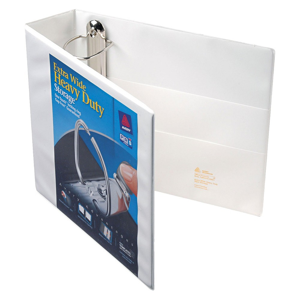 Avery Heavy-Duty View Binder with Locking 1-Touch Ezd Rings, 3 Cap, White