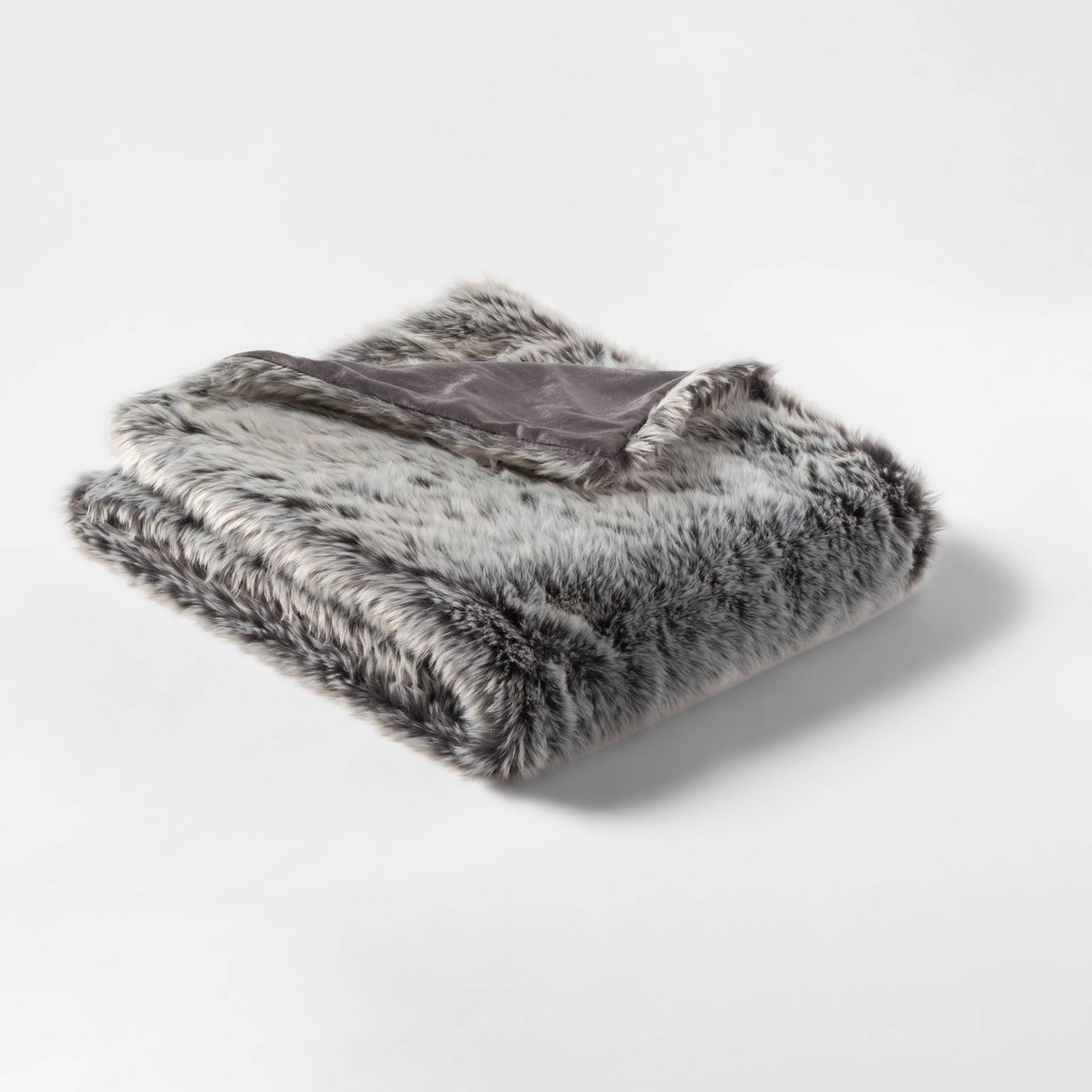 Faux Fur Throw Neutral/Gray - Threshold™ - image 1 of 2