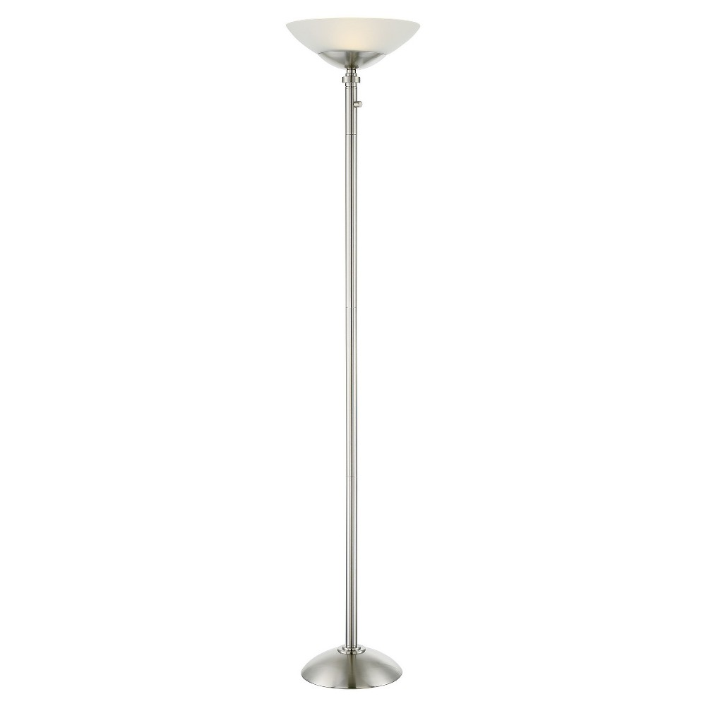 Edith Led Torchiere Floor Lamp Polished Steel (Includes Energy Efficient Light Bulb) - Lite Source