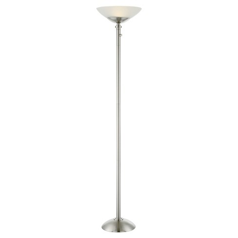 Edith Led Torchiere Floor Lamp Polished Steel Includes Energy Efficient Light Bulb Lite Source Target