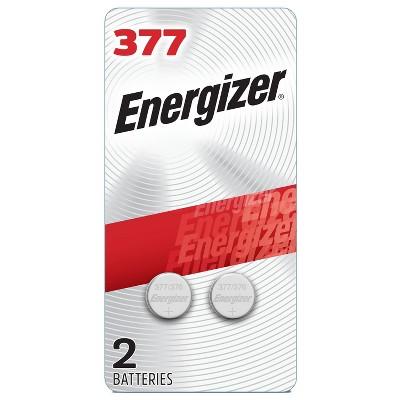 Energizer 2pk 377 Batteries Silver Oxide Button Battery