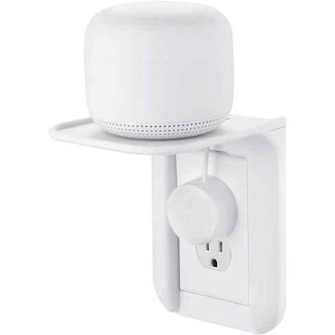 Wasserstein AC Outlet Mount for Google Nest WiFi - Perfect Wall Outlet Shelf for Google Home, Nest Mini & Nest Hub - image 1 of 4