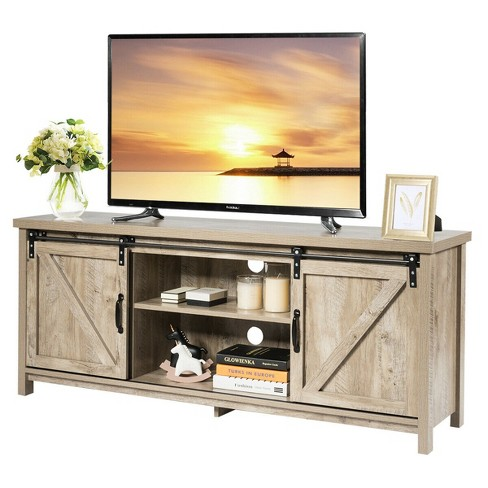 Costway Tv Stand Console Cabinet, Tv Stand Media Storage Cabinet