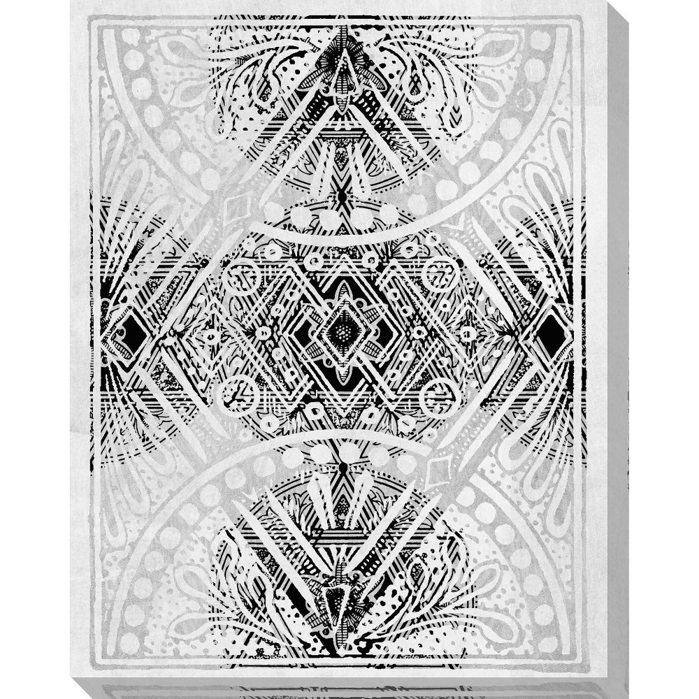Image of Belgian Lace IV Unframed Wall Canvas Art -(24X30)