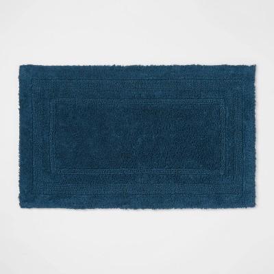 "20""x34"" Performance Cotton Reversible Bath Rug Teal - Threshold™"