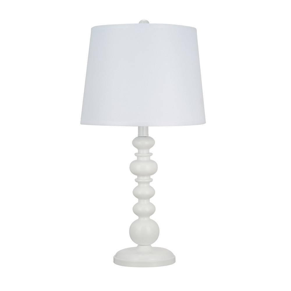 23 34 Balustraude Table Lamp White Cresswell Lighting