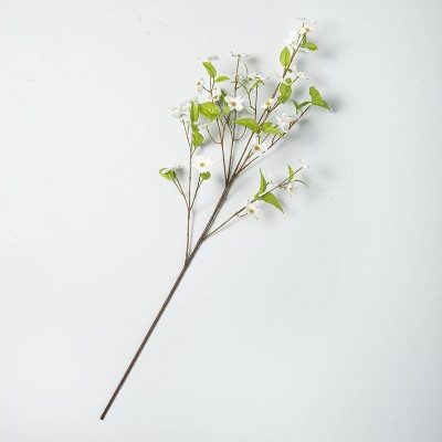 """32"""" Faux White Dogwood Flower Stem - Hearth & Hand™ with Magnolia"""