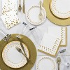 """Sparkle and Shine Gold Foil 7"""" Dessert Plates - 8ct - image 2 of 2"""