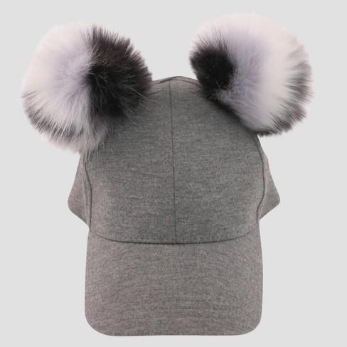 04646c7107e Toddler Girls  Baseball Hat With Leopard Poms - Cat   Jack™ Gray 2T-5T    Target