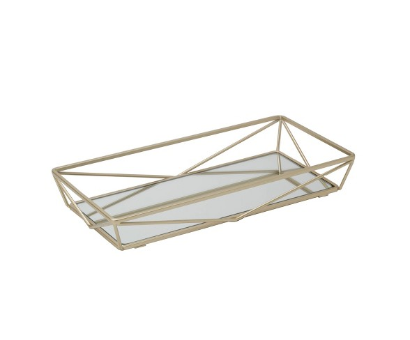 Geometric Mirrored Vanity Tray Gold Ho Buy Online In South Africa At Desertcart