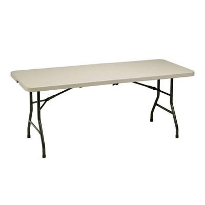 6' Heavy Duty Utility Fold In Half Table Cream - Meco