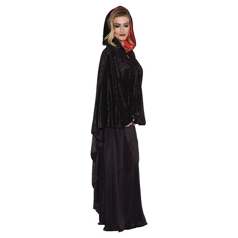 Adult Costume Cascade Cape Black - One Size Fits Most - image 1 of 1
