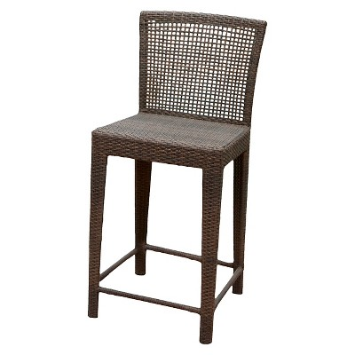 Attractive Pacific Wicker Patio Bar Stool   Multi Brown   Christopher Knight Home