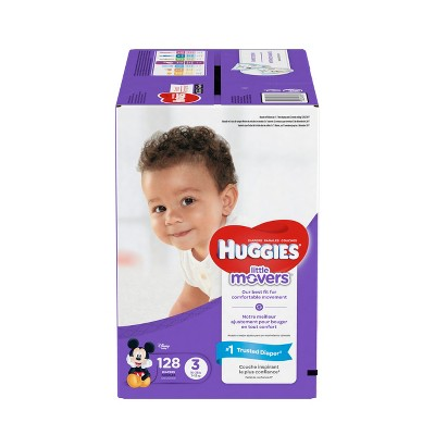Huggies Little Movers Diapers - Size 3 (128ct)