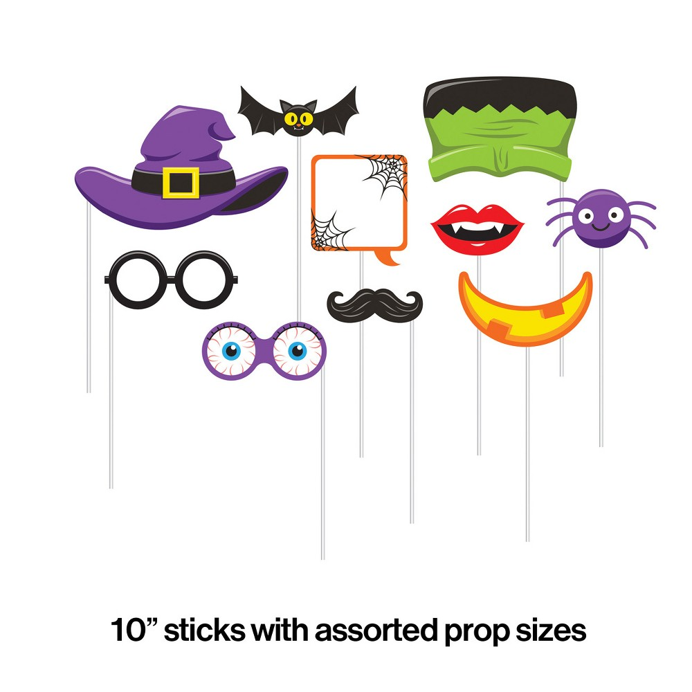 Image of 10ct Halloween Photo Booth Props
