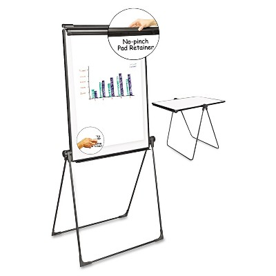 UNIVERSAL Foldable Double Sided Dry Erase Easel 28.5 x 37.5 White/Black 43030