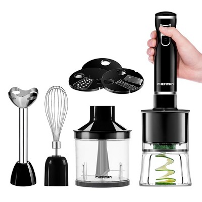 Chefman Immersion Blender & Electric Spiralizer/Vegetable Slicer - Black RJ19-V2-SBP