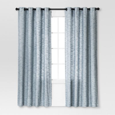 Diamond Weave Window Curtain Panel Blue (54 x84 )- Threshold™