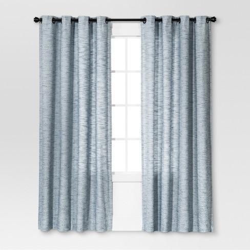 Diamond Weave Window Curtain Panel - Threshold™ - image 1 of 4