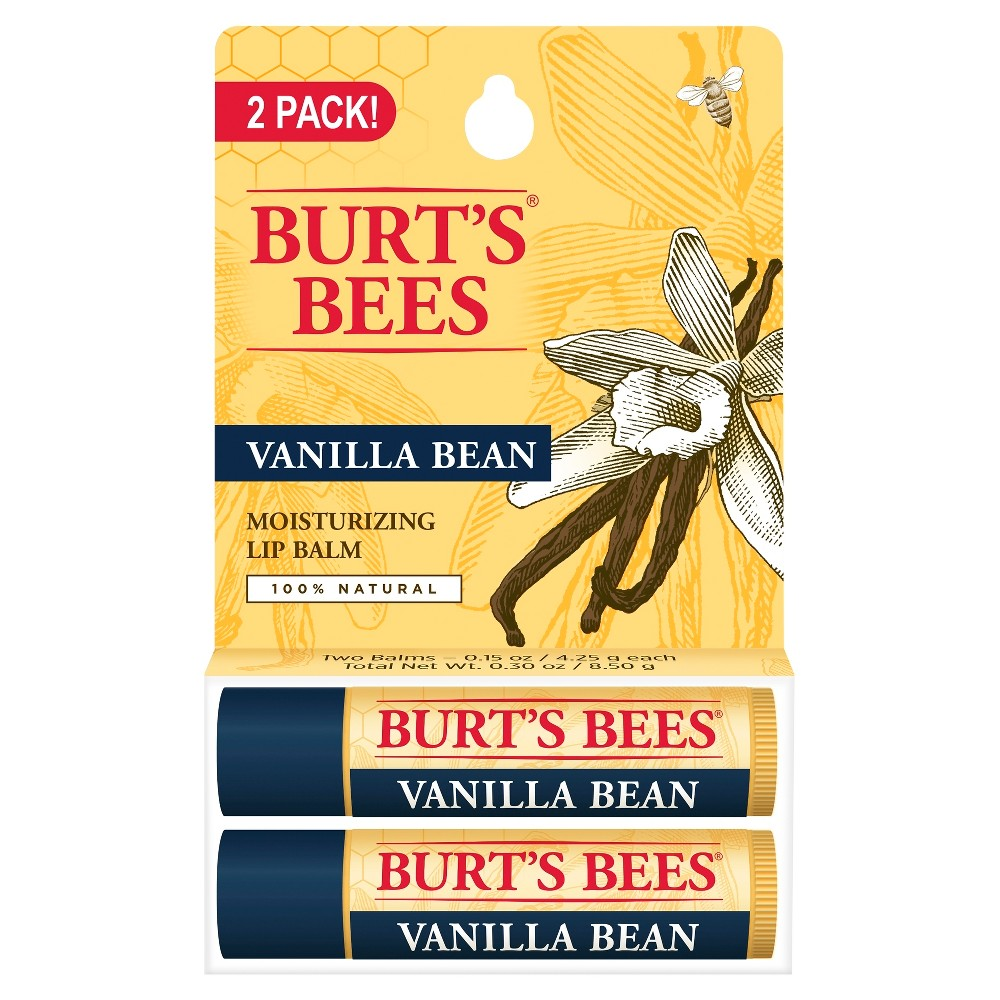 Image of Burt's Bees 100% Natural Moisturizing Lip Balm - Vanilla Bean - .30oz
