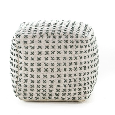 Flanner Square Pouf Ottoman Gray - Christopher Knight Home