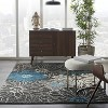 Nourison Passion PSN17 Charcoal/Blue Indoor Area Rug - image 4 of 4