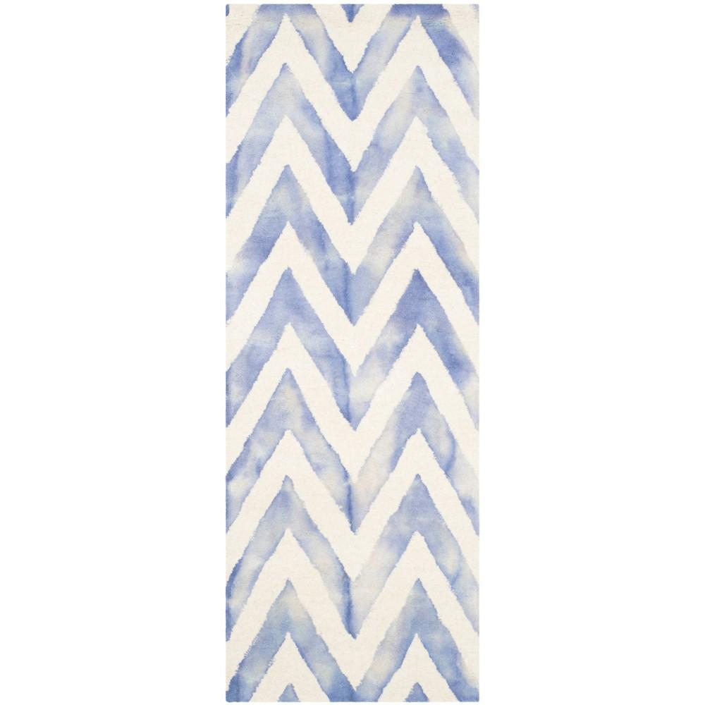 2'3X6' Dip Dye Design Accent Rug Ivory/Blue - Safavieh