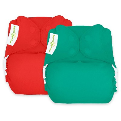 BumGenius Reusable Diaper Set Forest Red