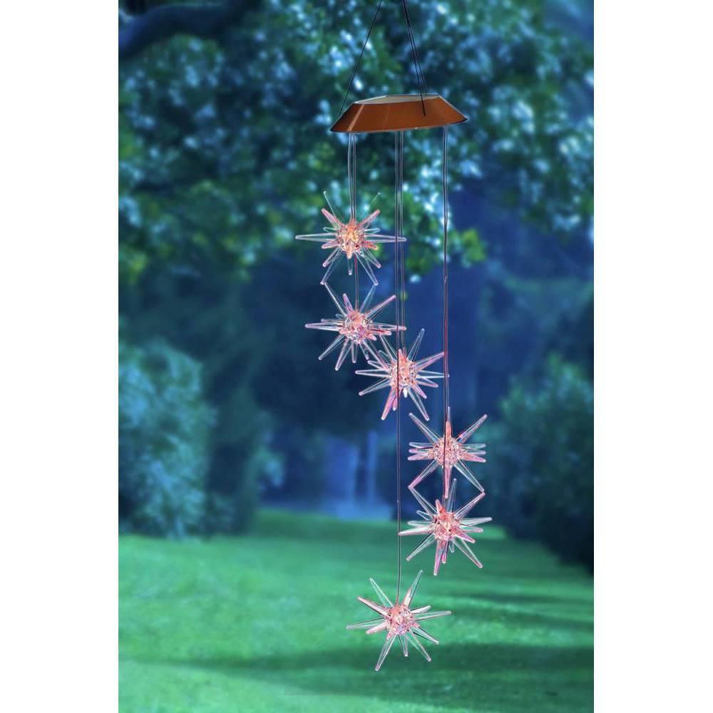 26 Acrylic/Metal Solar Mobile Starburst - Evergreen, Multi-Colored