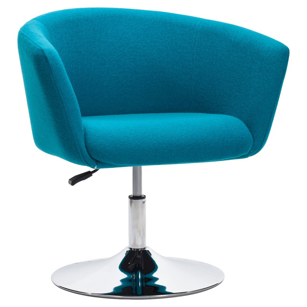 Mid-Century Modern Upholstered Arm Chair - Blue - ZM Home