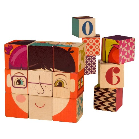 B. Toys B. Puzzled Wooden Blocks  15pc - image 1 of 1
