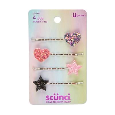 scunci Glitter Bobby Pins - 4pk