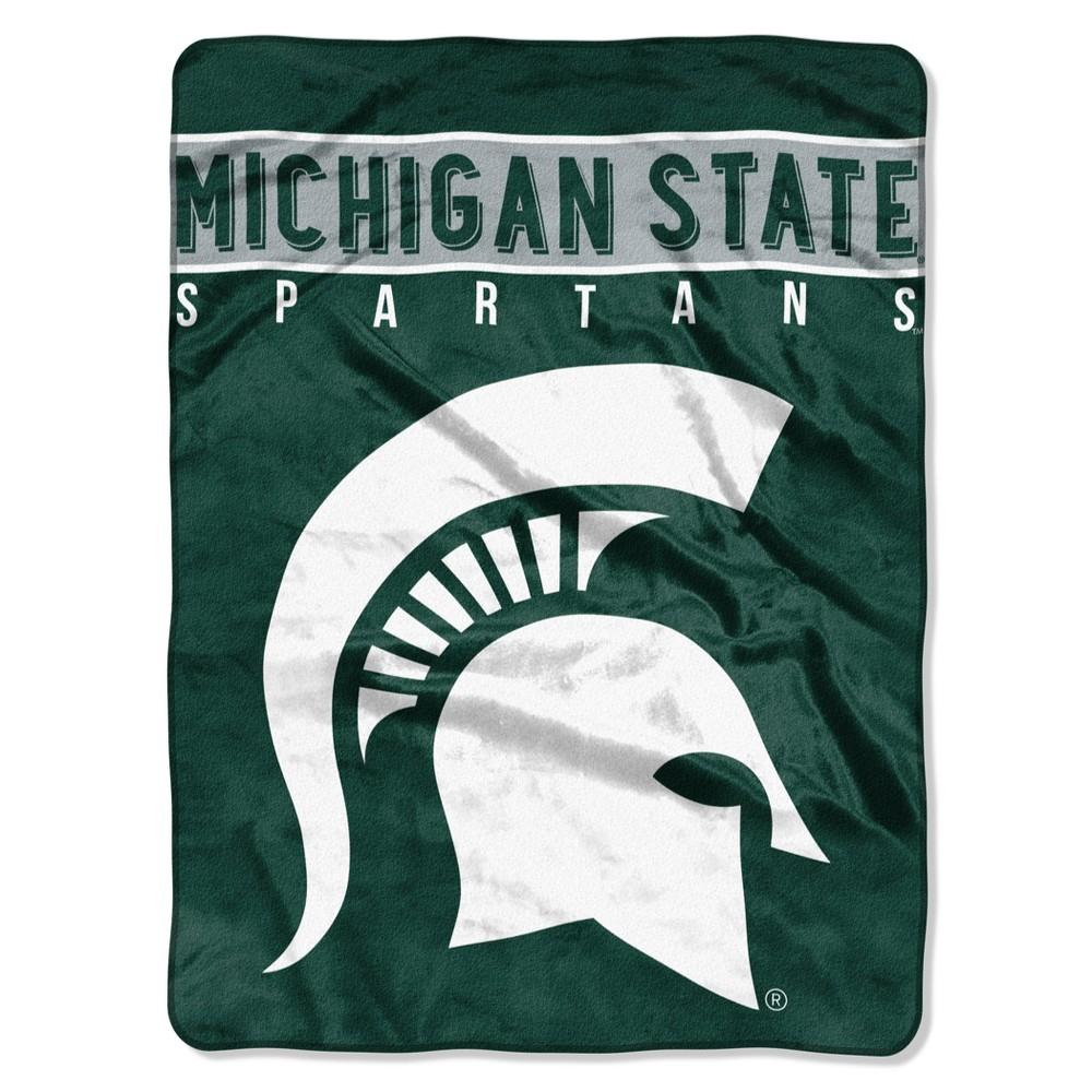 NCAA Michigan State Spartans Raschel Throw Blanket